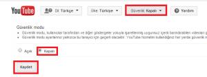 youtube güvenlik